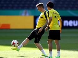 Marco Reus absolvierte beim BVB eine Footbonaut-Einheit