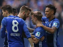 Schalke 04 hatte gegen Wolfsburg allen Grund zu jubeln