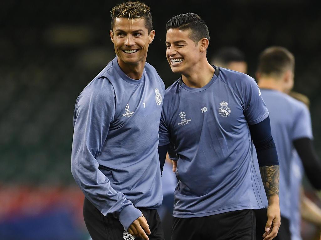 Cristiano Ronaldo hätte James Rodríguez gerne weiter bei Real gesehen