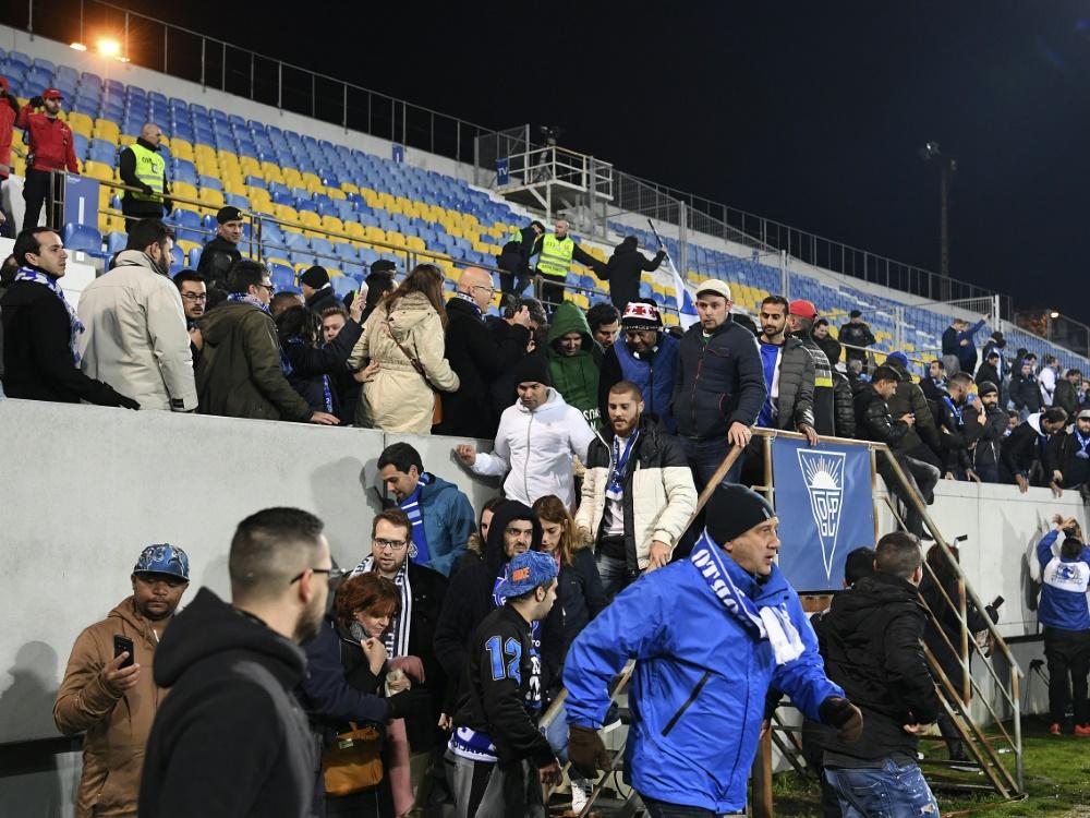 Das Stadion von GD Estoril Praia musste geräumt werden