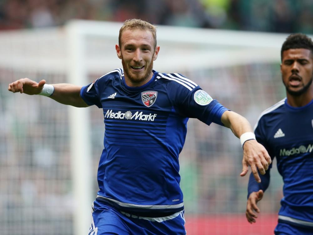 Moritz Hartmann (links) im Dress des FC Ingolstadt