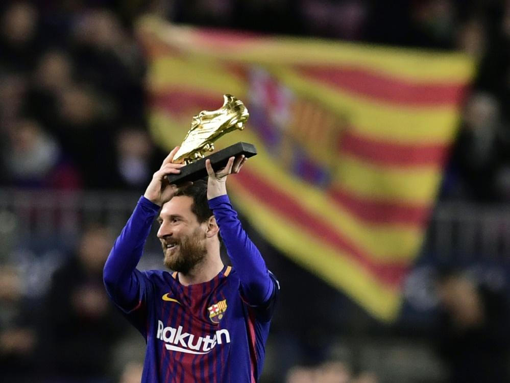Lionel Messi erzielte 34 Tore in La Liga