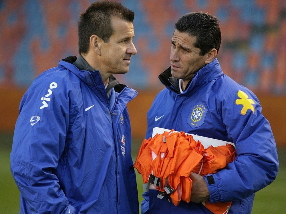 Carlos Dunga und Jorginho (r.)