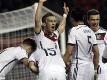 Die deutschen Junioren bejubeln einen Treffer