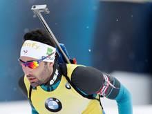 Sicherte sich noch den Weltcup-Triumph: Martin Fourcade
