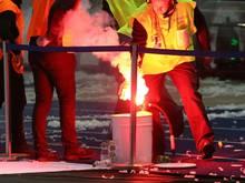 Die Randalierer schmuggelten Pyrotechnik ins Mannheimer Stadion