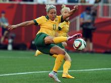 Kyah Simon erzielt zwei Tore für Australien