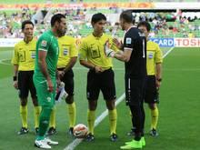 Palästina (links) muss für WM-Quali auf neutralen Platz