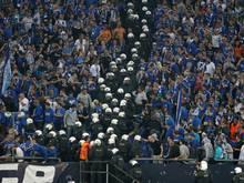 Ausschreitungen bei einer Partie zwischen Schalke und Saloniki vor drei Jahren