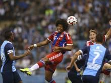 Dante köpfte das 1:0 für die Bayern