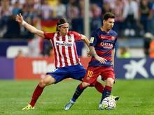 Die Sperre von Filipe Luis (l.) wurde auf ein Spiel reduziert