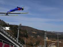 Richard Freitag beim Training in Pyeongchang