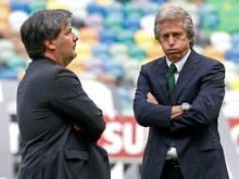 Verwirrung um Bruno de Carvalho (l.) und Jorge Jesus