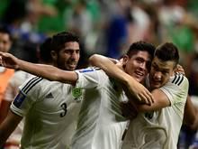 Edson Álvarez wurde nach seinem Tor zum 2:0 für Mexiko gefeiert