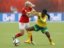 Kamerun bezwingt die Schweiz in Edmonton