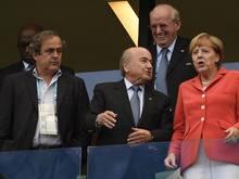 Angela Merkel begeistert Spieler und Trainer