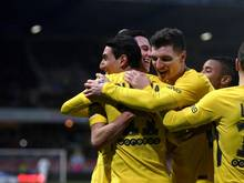Paris Saint-Germain feierte den Torschützen Ángel Di María