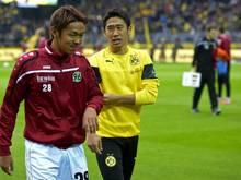 Im Kader: Shinji Kagawa (r.) und Hiroshi Kiyotake