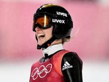 Katharina Althaus hat bei Olympia Silber gewonnen