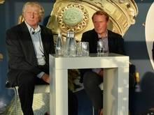 Vogts (r.) und Rutemöller (l.) beim Ergo-Pokal-Talk