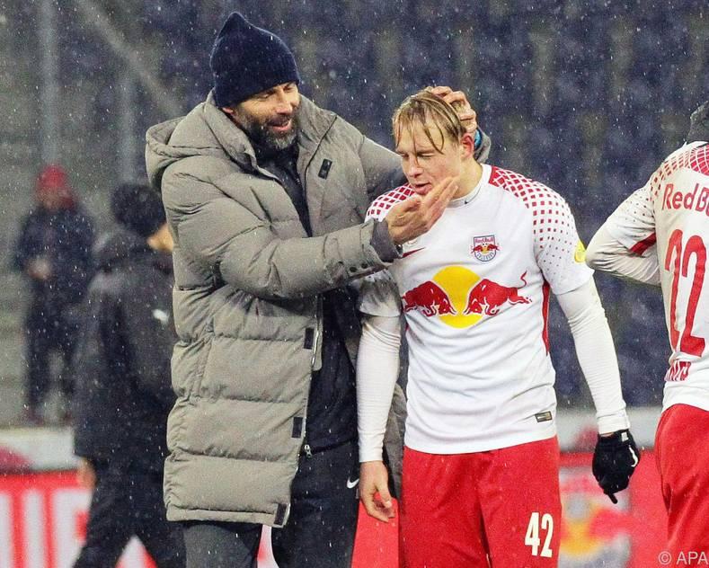 Salzburg-Trainer Marco Rose muss seine Kicker wieder aufrichten