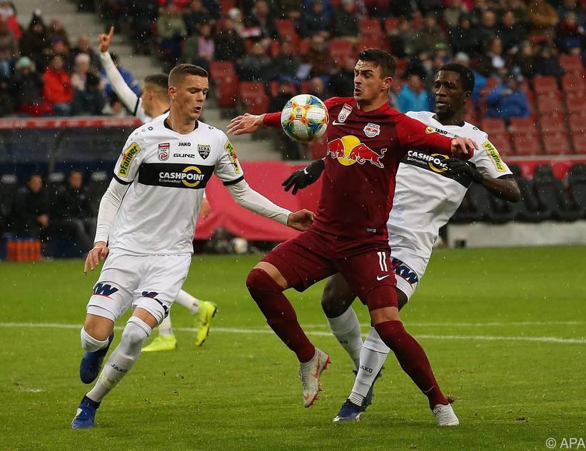 Salzburg feiert einen knappen Sieg gegen den SCR Altach