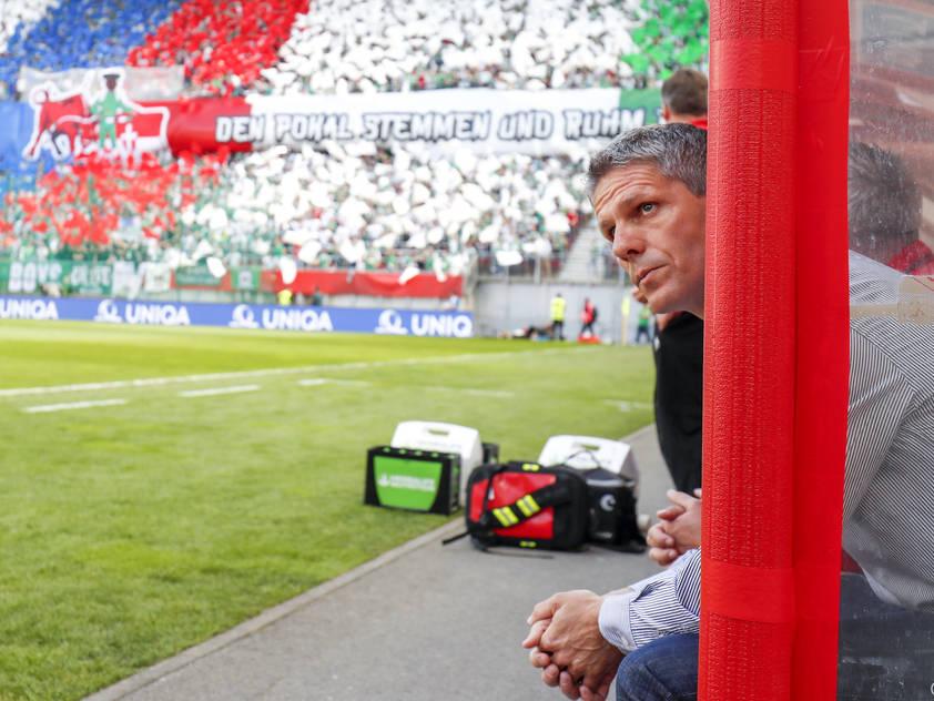 Rapid-Trainer Dietmar Kühbauer hofft auf den 14. Sieg im 32. Saisonspiel