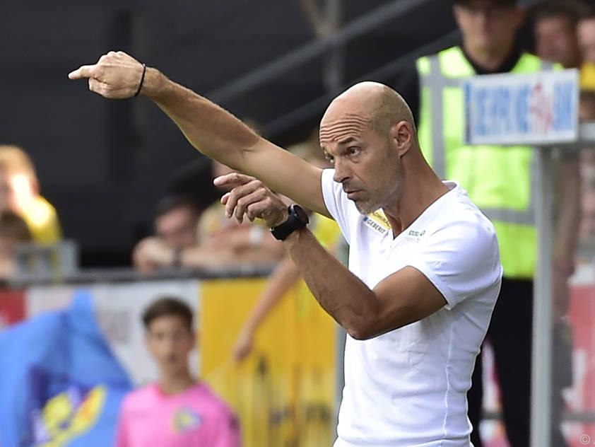 SKN-Coach Schmidt setzte nach dem 0:6 in Altach auf eine Aussprache