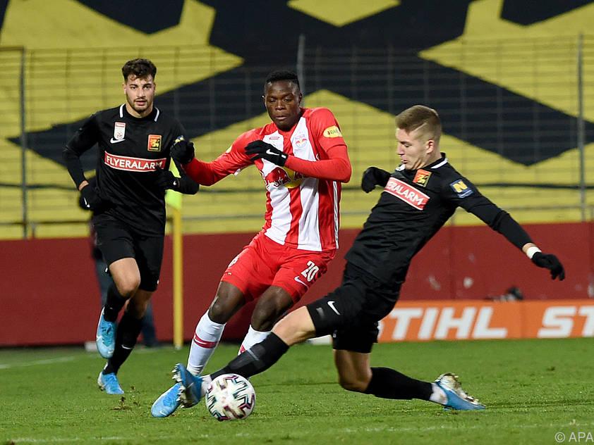 Die beste Performance des Spitzentrios lieferte noch Salzburg mit 1:1 gegen Admira