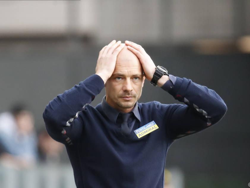 Sturm-Coach El Maestro bei der Niederlage gegen Mattersburg