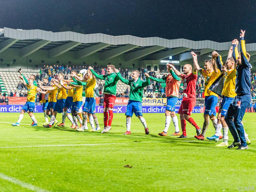 Die WSG Tirol darf sich über den Verbleib in der Bundesliga freuen