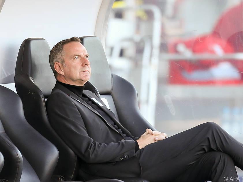 LASK-Trainer Thalhammer hat den Fokus auf St. Pölten gerichtet