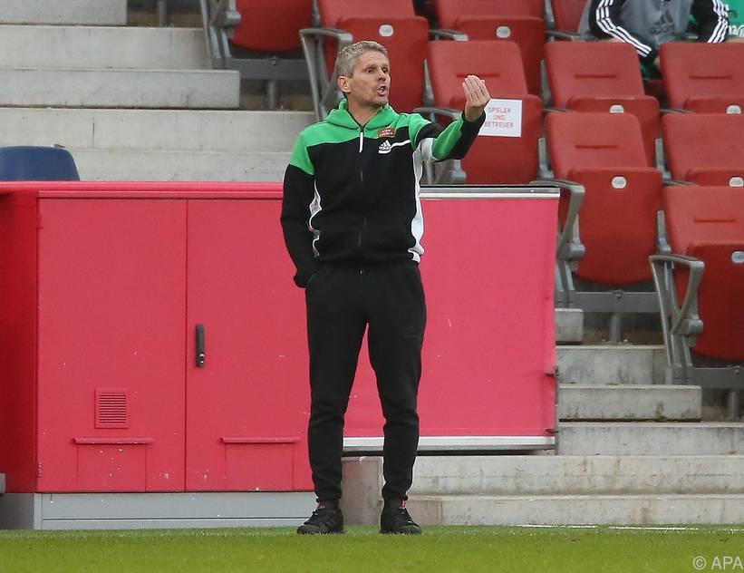 Rapid-Trainer Dietmar Kühbauer will gegen Ried gewinnen