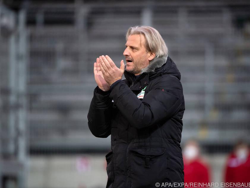 Hartberg-Trainer Markus Schopp hofft auf einen Sieg gegen die Admira