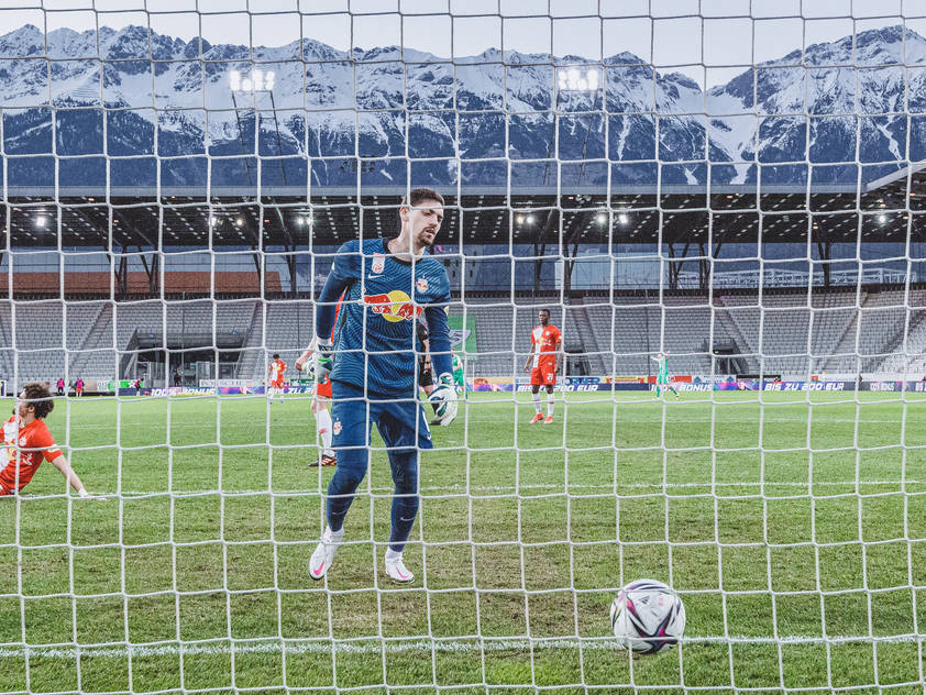 Salzburg-Goalie Cican Stanković musste dreimal hinter sich greifen