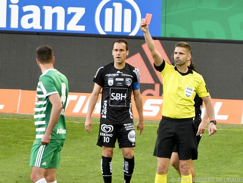 Ausschluss von Mateo Barac (l.) am Sonntag beim 1:2 gegen den WAC