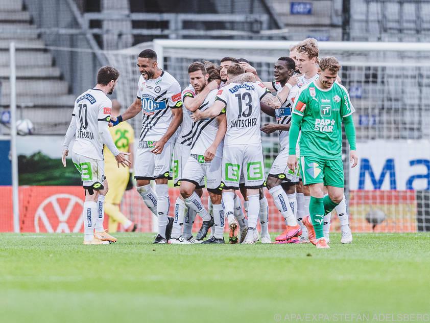 Sturm Graz jubelt über den ersten Auswärtssieg 2021