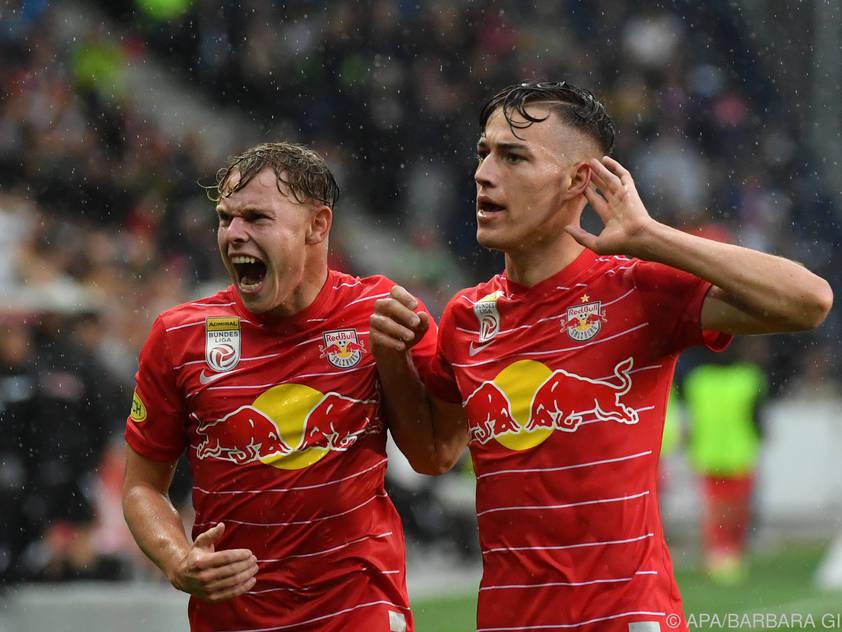 Salzburger Emotion beim 2:1 gegen