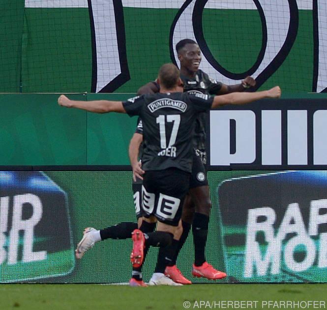 Sturm Graz jubelt über einen klaren Sieg gegen Rapid
