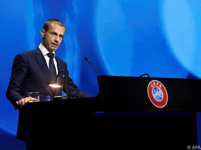 UEFA-Präsident Ceferin beruhigt im Vorfeld der EM