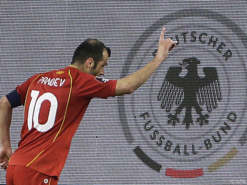 Beim historischen Sieg gegen Deutschland traf Pandev ebenfalls
