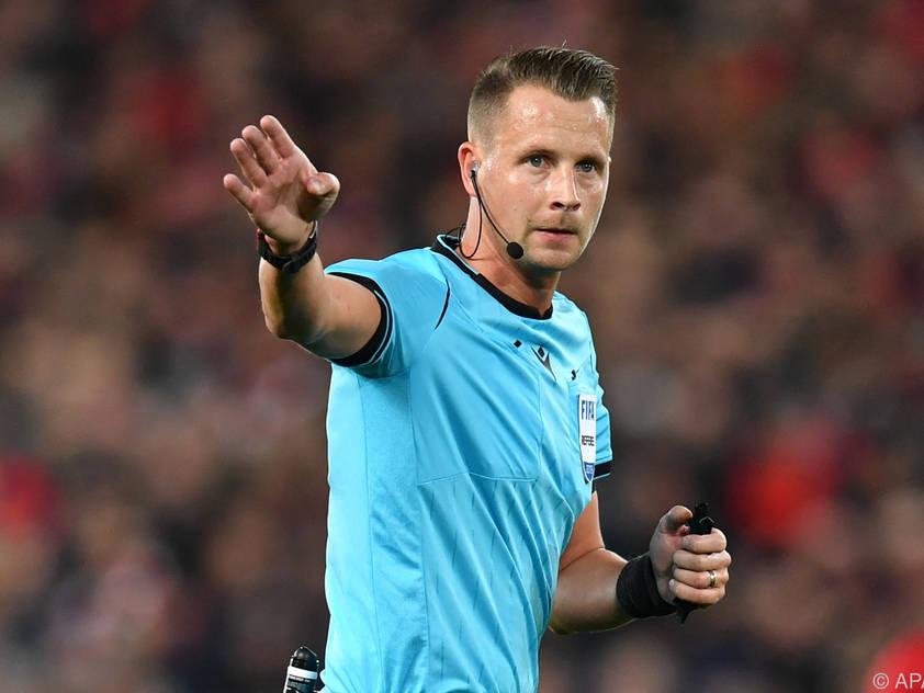 Der Schwedischer Referee Ekberg wird das Spiel zwischen Österreich und Nordmazedonien leiten