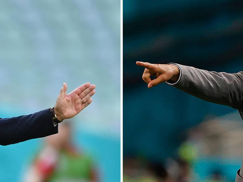 Gleichsam unter Druck: Trainer Petkovic (l.) und Günes