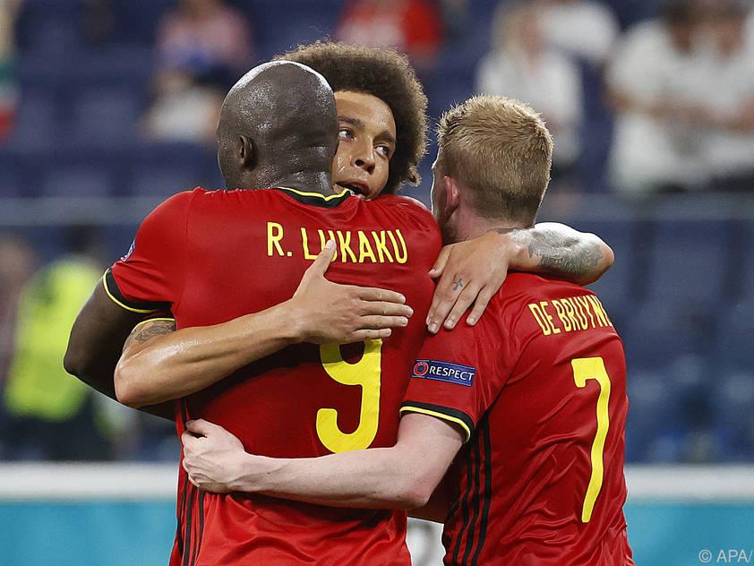 Die Belgier jubelten über den dritten Sieg im dritten Spiel