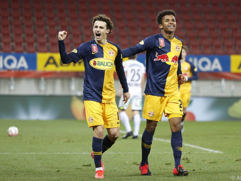 Die Salzburger jubeln über den Einzug ins ÖFB-Cup-Halbfinale
