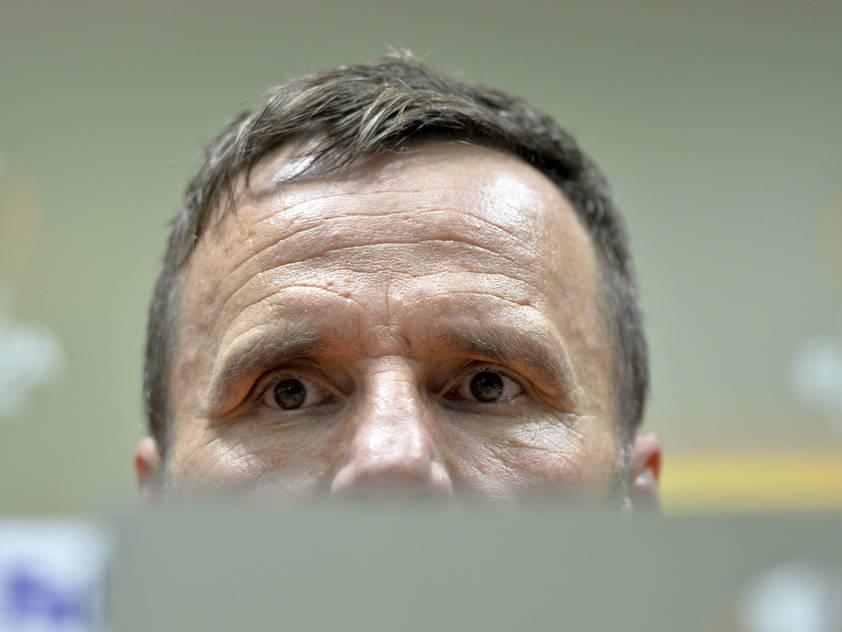 Anspannung bei Viktoria-Coach Karel Krejčí