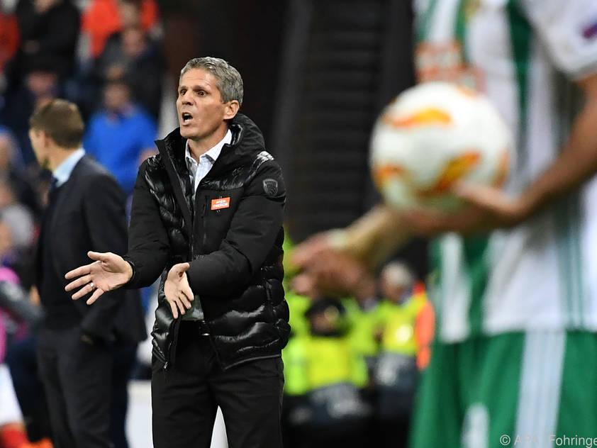 Dietmar Kühbauer war mit Rapids Auftritt in Glasgow nicht zufrieden