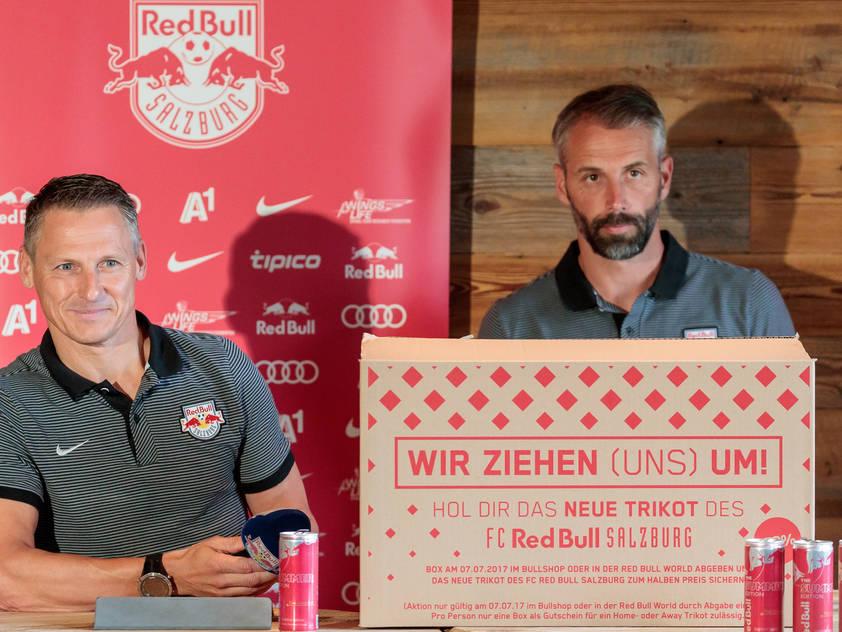 Stephan Reiter (l.) zeigt sich mit Salzburgs Entwicklung überaus zufrieden