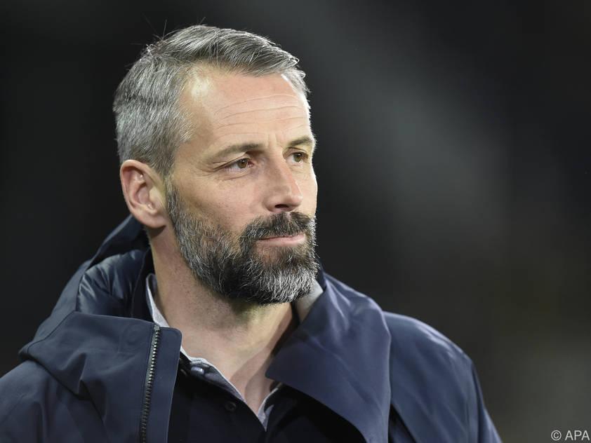 Salzburg-Trainer Marco Rose ist guter Dinge