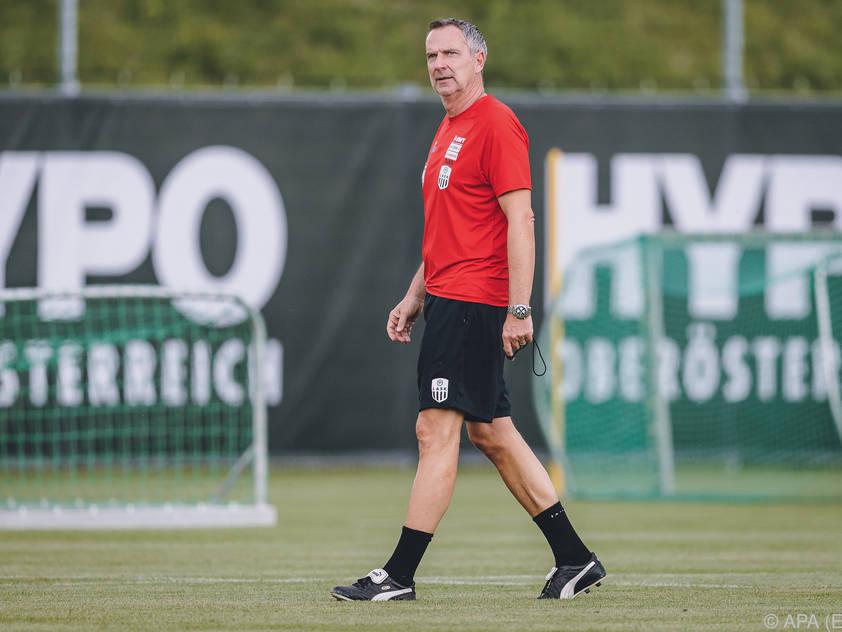 Pflichtspieldebüt von LASK-Trainer Dominik Thalhammer in Manchester
